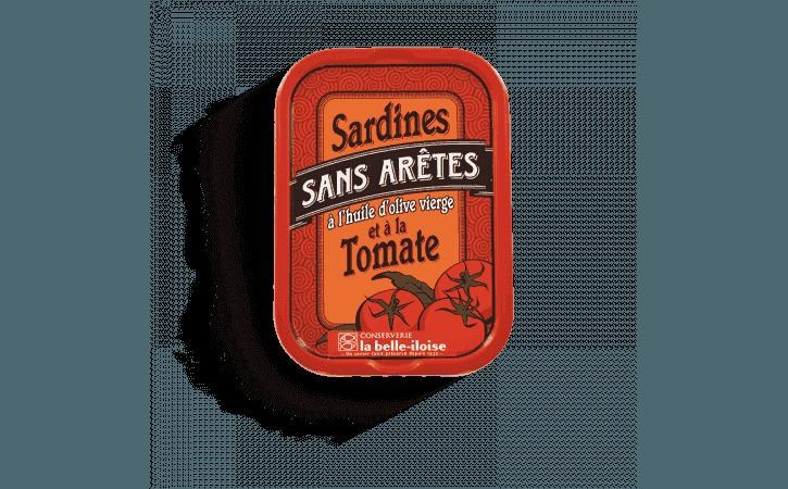 Sardines sans arêtes à l'huile d'olive et à la tomate - Conserverie la belle-iloise