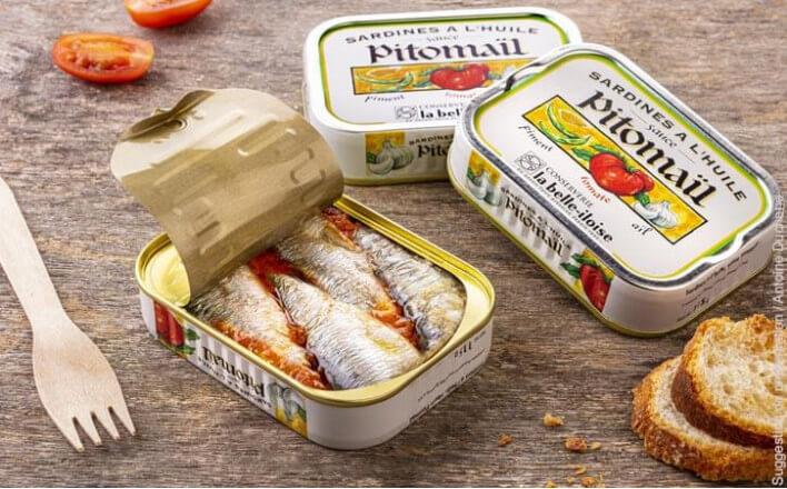 Sardines à l'huile, sauce Pitomaïl - 5 boîtes de 115g - La Belle Iloise