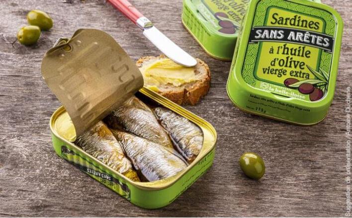 Sardines sans arêtes à l'huile d'olive - 5 boîtes de 115g - La Belle Iloise
