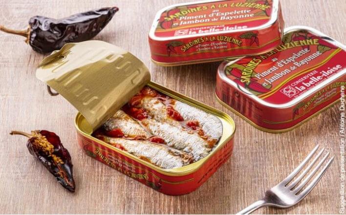 Sardines à la Luzienne - 5 boîtes de 115g - La Belle Iloise