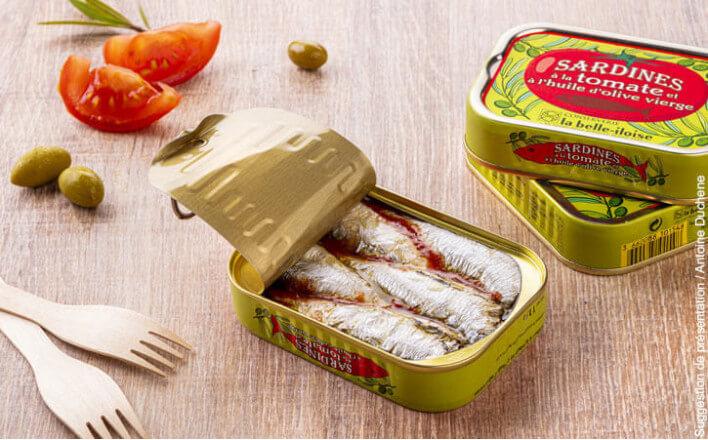 Sardines à l'huile d'olive et à la tomate - 5 boîtes de 115g - La Belle Iloise