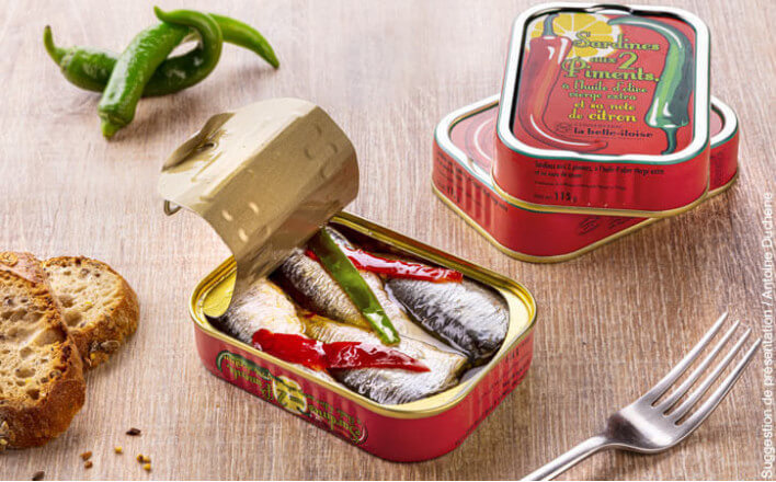 Sardines with two chillies and a hint of lemon - 5 tins of 115g ea. - La Belle Iloise