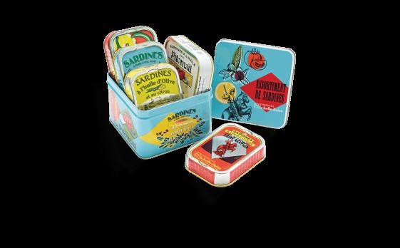 Assortment of sardines box - 5 tins of 115g ea.