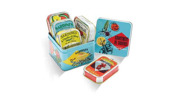 Assortment of sardines box - 5 tins of 115g ea.