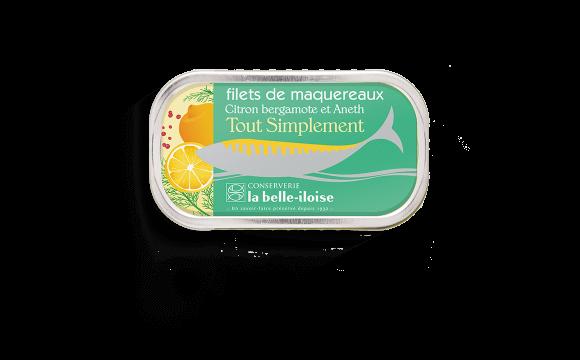 Filets de maquereaux citron bergamote et aneth - 5 boîtes de 118g
