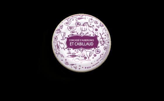 Concassé d'aubergines et cabillaud - 3 boîtes de 115g