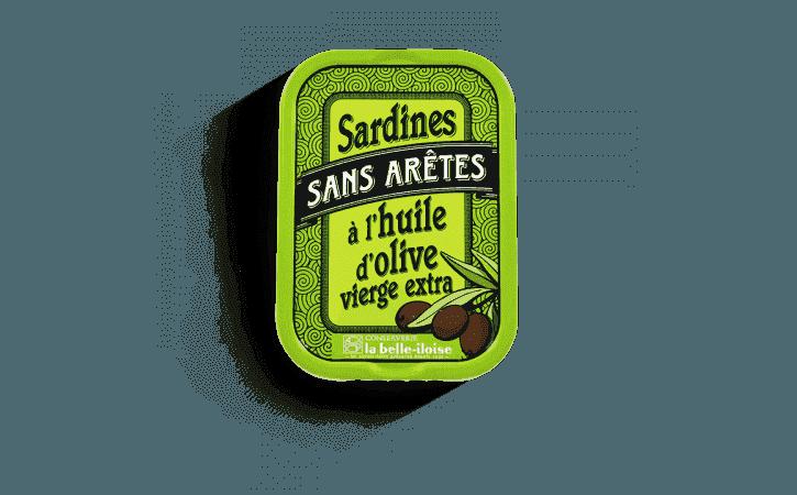 Sardines sans arêtes à l'huile d'olive - Conserverie la belle-iloise