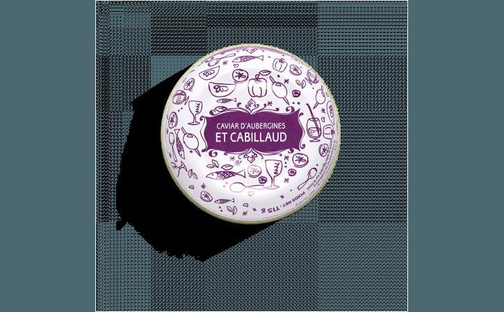 Caviar d'aubergines et cabillaud - Conserverie la belle-iloise