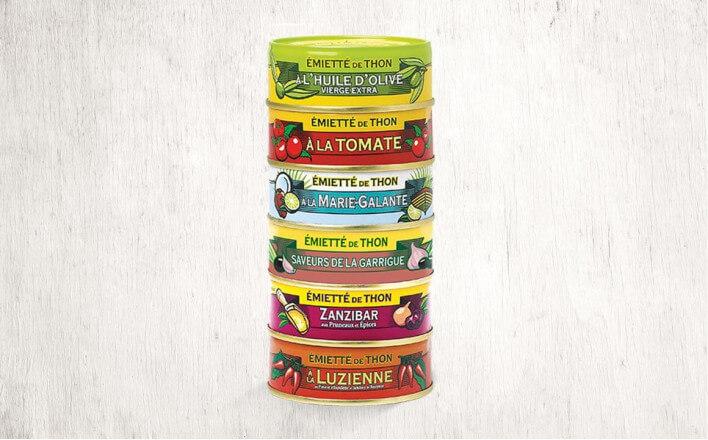 Assortment of 6 varieties of flaked tuna of 80g ea. - La Belle Iloise