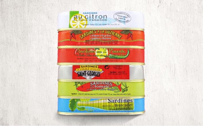 """""""Ouessant"""" Assortment - 6 varieties of sardines of 115g ea. - La Belle Iloise"""