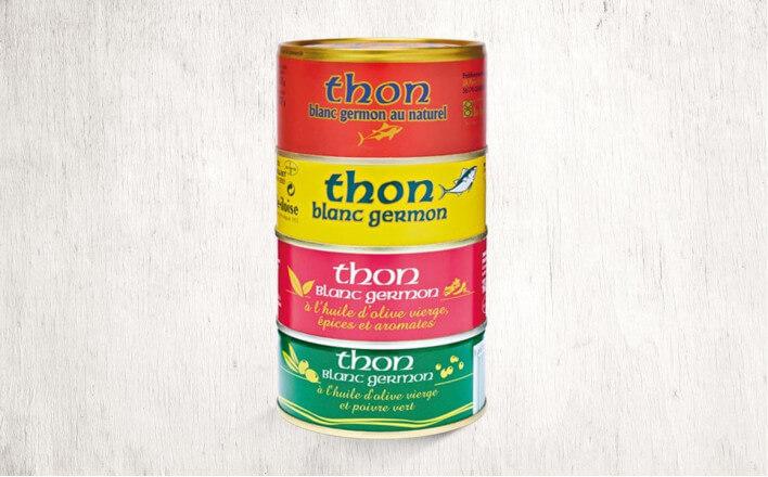 Assortiment de 4 boîtes de thon en tranche - La Belle Iloise