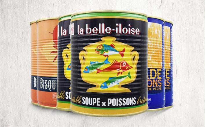 Assortiment de soupes de poissons - 6 boîtes de 800g - La Belle Iloise