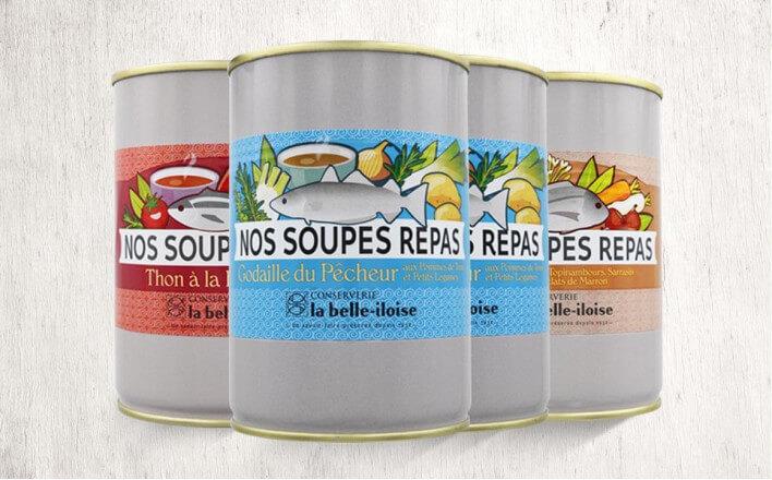 Assortiment de soupes repas - 4 boîtes de 380g - La Belle Iloise
