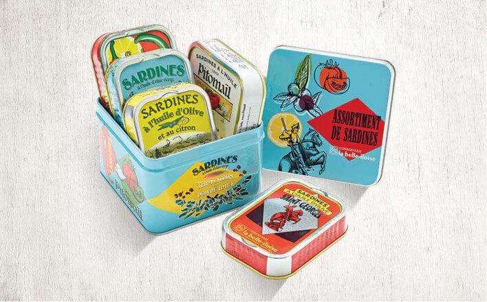 Assortment of sardines box - 5 tins of 115g ea. - La Belle Iloise