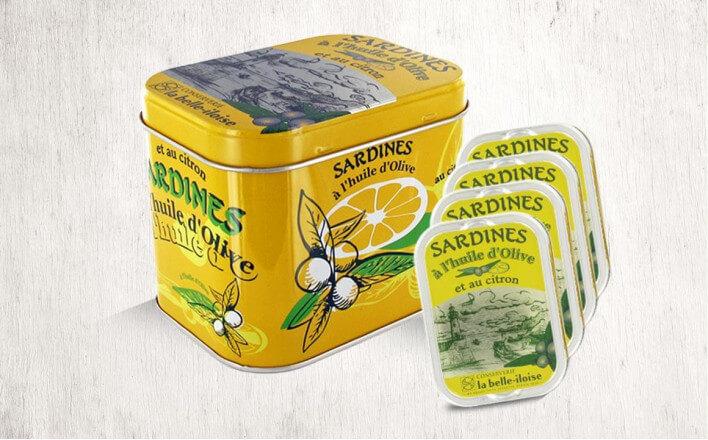 Boîte à Sardines à l'huile d'olive et citron - La Belle Iloise