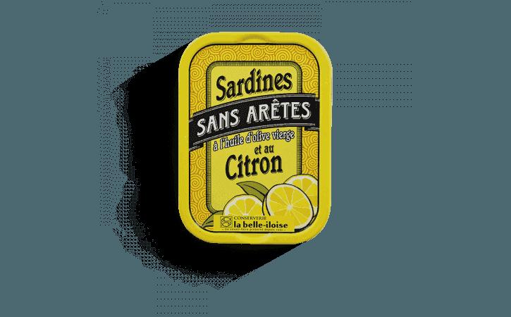 Sardines sans arêtes à l'huile d'olive et au citron - Conserverie la belle-iloise