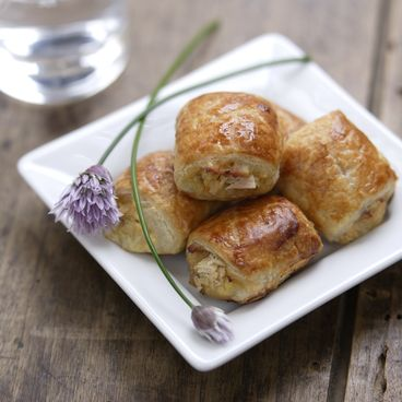 Tuna and cheese puff pastries