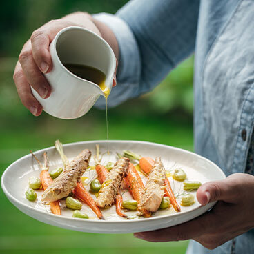 Carottes grillées et filets de maquereaux citron et 5 baies