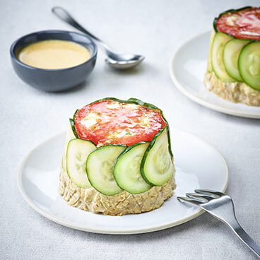 Mini mackerel and courgette domes
