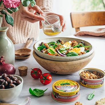 Niçoise-style sardine salad