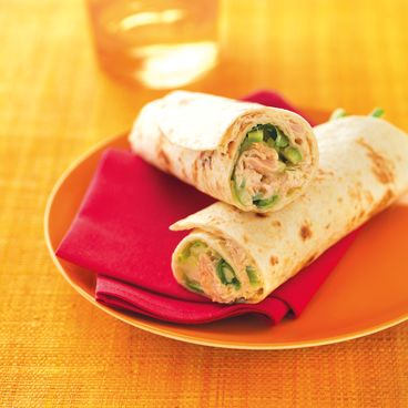 Tuna in olive oil wraps