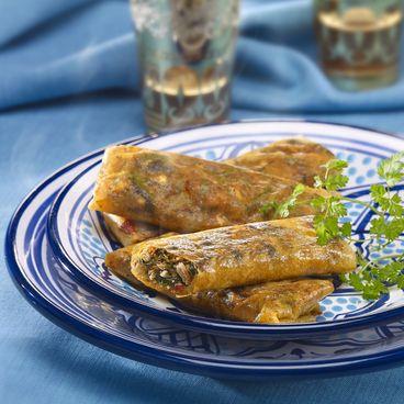 Oriental-style sardine turnovers
